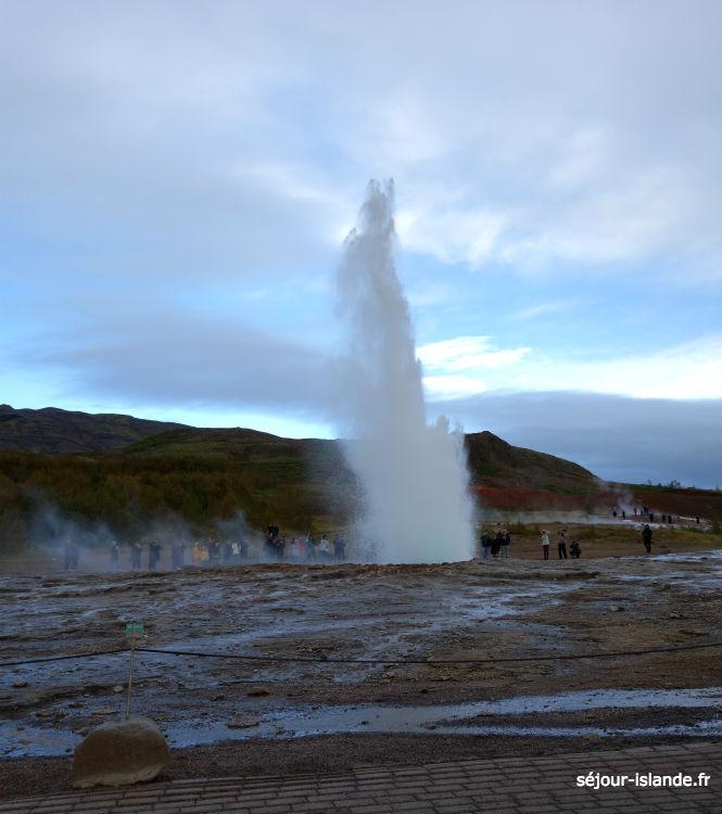 Cercle d'or et geysers de Geysir en Islande