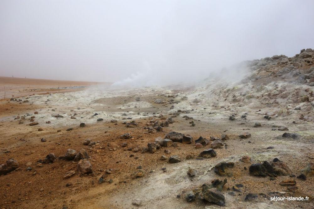La zone volcanique de Myvatn en Islande