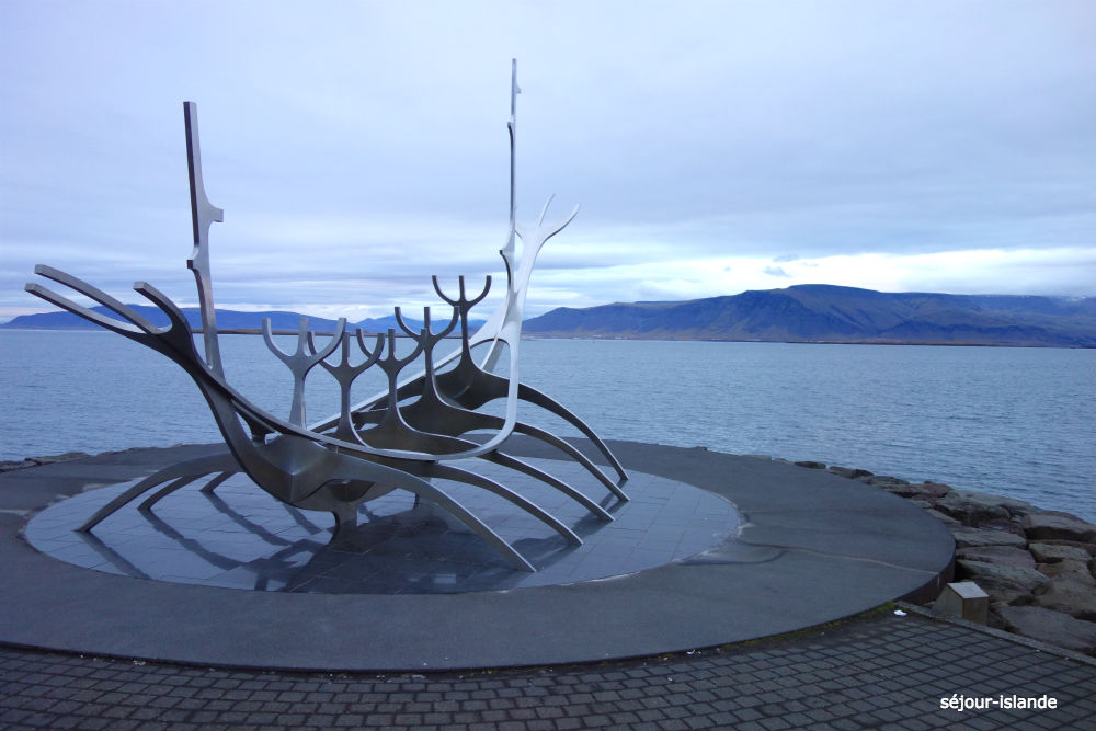 Le voyageur du soleil, sculpture à Reykjavik