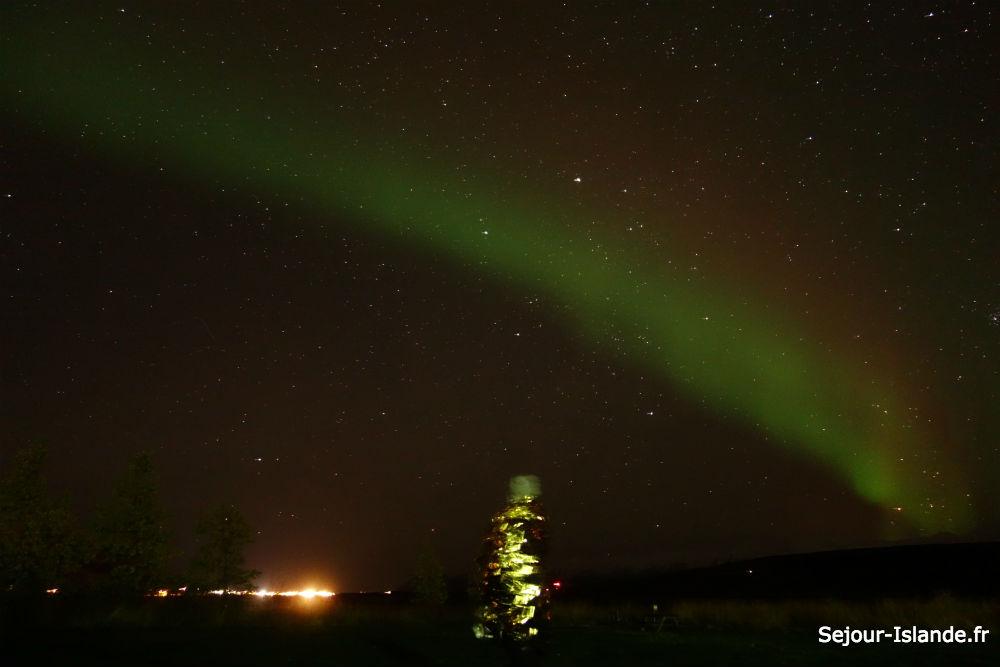 voir des aurores boreales en islande